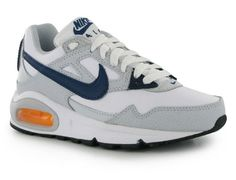 the best attitude cc276 e720a Nike Air Max Skyline Leather Boys Womens Trainers White Navy UK size 5 EU38  NEW Air