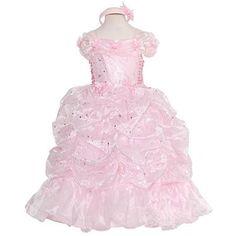Rain Kids Little Girls 6 Pink Sparkling Stars Pageant Gown Dress