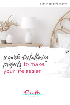 Little pockets of clutter in my house were stressing me out and making my life harder. These quick and easy decluttering projects helped make my life at home easier and less stressful. I decluttered important parts of my home that were making me waste time and energy. I'm so glad I decluttered! Clean Refrigerator, Organized Bedroom, Trash Day, Laundry Storage, Declutter Your Home, Food Storage Containers, Bedroom Storage, Decluttering, Organization Hacks
