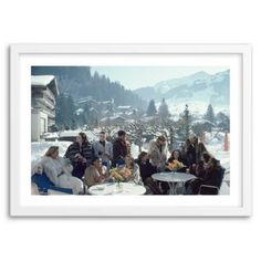 Check out this item at One Kings Lane! Slim Aarons, Drinks at Gstaad
