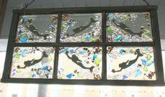 Beach Glass Windows | SoHo Arts Company Hyannis MA 02601 Tudor Style, Popular Art, Little Critter, Nautical Theme, Soho, Driftwood, Garden Art, Sea Glass, Whimsical