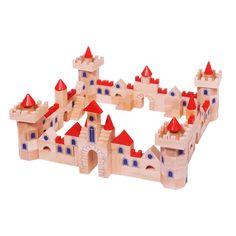 Bouwen met blokken is en blijft leuk. Met deze houten bouwblokken van Goki kun je een prachtig kasteel maken compleet met ramen, poorten, torens en uitkijkposten.