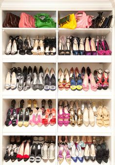 Whether you're into shopping or not, into fashion or not - this shoe closet is every girl's mega dream. For sure.