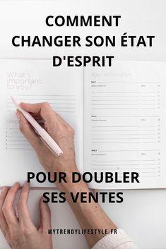 Changer son état d'esprit pour booster ses ventes - My Trendy Lifestyle Auto Entrepreneur, To Focus, Mindset, Business, How To Plan, Lifestyle, Board, Make Peace, Sales Process