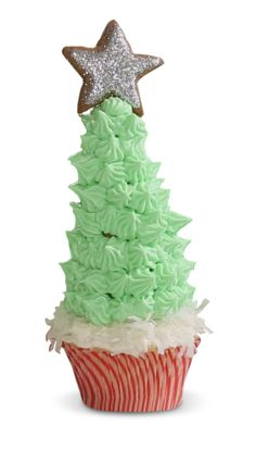 Christmas Tree Cupcakes that everyone can enjoy. #HealthierHolidays