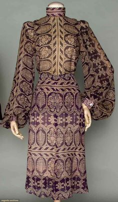 1970s Thea Porter ethnic inspired dress with paisley print