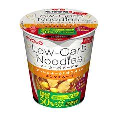 明星 低糖質麺 Low-Carb Noodles <マッシュルームとオニオンのコンソメスープ> - 食@新製品 - 『新製品』から食の今と明日を見る!