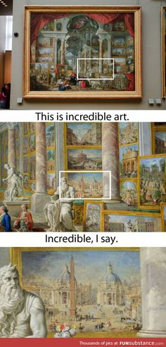 An art show inside of a painting