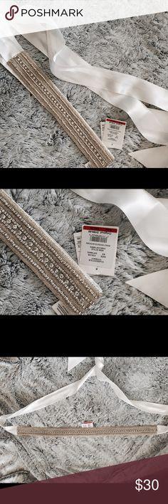 Davids Bridal Dress Belt Sash Wedding Dress or Gown Sash Originally $200 Ivory David's Bridal Accessories Belts