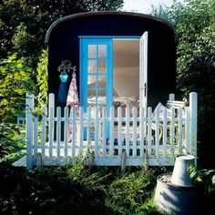 small house. Mini picket fence for mini house.