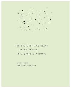 My thoughts are stars I can't fathom into constellations #ad