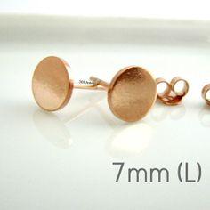 2c8947ad3 Discoid bolt stud earrings, solid gold stud earrings, tiny stud ...