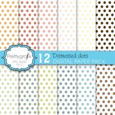 Distressed polka dot papers  #digital background #digital art #prettygrafik #digital papers