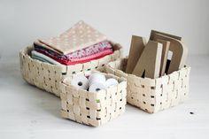 How to weave a basket of veneer | DIY is FUN
