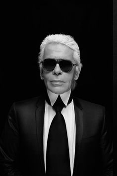 Karl Lagerfeld - for his commitment to fashion, mysterious demeanor and minimalist appearance.