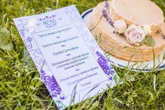 Wedding cake and a design's menu