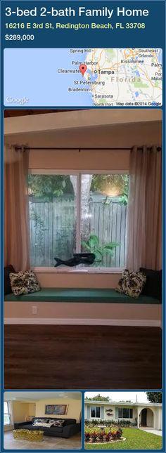 3-bed 2-bath Family Home in 16216 E 3rd St, Redington Beach, FL 33708 ►$289,000 #PropertyForSaleFlorida http://florida-magic.com/properties/93480-family-home-for-sale-in-16216-e-3rd-st-redington-beach-fl-33708-with-3-bedroom-2-bathroom