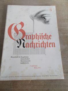 Cover Graphische Nachrichten, 13. Jahrgang,  Heft 3, März 1934