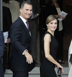 Los encargados de presidir esta noche tan especial fueron los reyes Felipe y Letizia, que a su llegada al coliseo madrileño