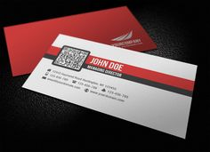 Simple Corporate QR Code Business Card by glenngoh on DeviantArt