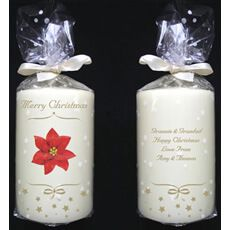 Personalised Christmas Candle Poinsettas go hand in hand with the festive season, and this Christmassy candle makes a great gift. Personalisation Message on reverse 4 lines of 20 characters per line http://www.MightGet.com/january-2017-13/personalised-christmas-candle.asp