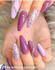 nails like design gel nails. nails like design gel nails.,Nailart nails like design gel nails. Popular Nail Designs, Cute Nail Designs, Acrylic Nail Designs, Acrylic Nails, Purple Nail Designs, Coffin Nails, Purple Nails, Glitter Nails, Pink Gel Nails