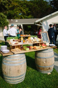 Wedding Food Stations Catering Ideas For 2019 La Jolla, Deco Buffet, Rustic Buffet, Appetizers Table, Wedding Appetizers, Wedding Appetizer Table, Cheese Table Wedding, Appetizer Table Display, Wedding Table