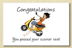 Scooter Test Greeting Card