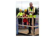The Reverend Martyn Gough blesses the Endeavour Centre