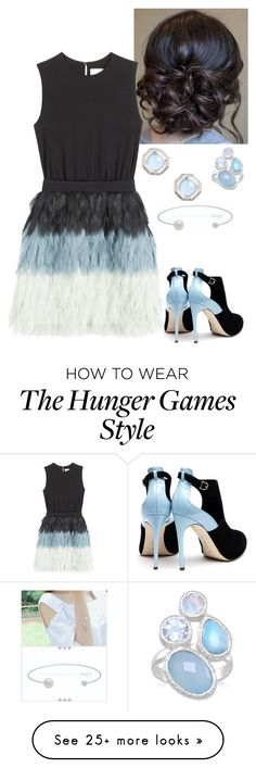 """Mirella At The HUnger Games Catching Fire 2013 Premiere"" by misumi-moua on Polyvore featuring Victoria, Victoria Beckham, Rupert Sanderson and Judith Jack"
