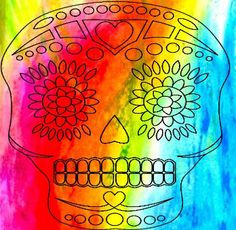 Color-wash suga skull = <3<3<3