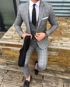 Black and brown designer suits for fashion men. mens slim fit suits designer, mens designer suits on sale, Press VISIT link above for more options Best Suits For Men, Cool Suits, Suit For Men, Blue Suit Men, Grey Suits, Men's Suits, Mode Costume, Designer Suits For Men, Herren Outfit