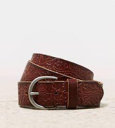 AEO pressed leather belt