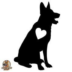 Types Of German Shepherd, German Shepherd Tattoo, German Shepherd Puppies, German Shepherds, German Shepherd Painting, Bulldog Breeds, Most Popular Dog Breeds, Dog Silhouette, Schaefer