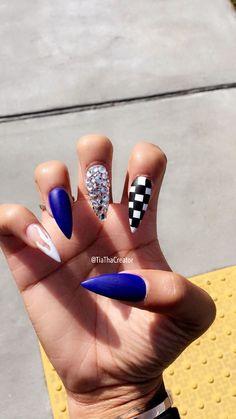 Cute Acrylic Nails, Acrylic Nail Designs, Nail Art Designs, Nails Design, Fabulous Nails, Gorgeous Nails, Dope Nails, Stiletto Nails, Coffin Nails