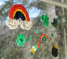 WOW! These St. Patrick's Day Window Clings are gorgeous, and they're so easy to make!
