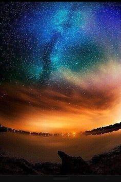 Northern lights, so beautiful!  #StarryNight
