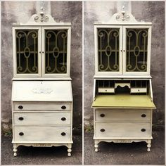 It is always such an honor to be trusted with a family piece that is so special to its owner. Thank you Miss Diane we love this one too!  Save your family pieces everyone re-imagine and love them! Eastcote is happy to help!  Custom painting always available email pics for quotes   happy #sundayfunday everyone! All Eastcotes are open today!  #vintagesecretary #reimagined #familyheirloom #custompainting #mbpc #vanille #paintedfurniture #workingfurnitureshop #eastcotelane