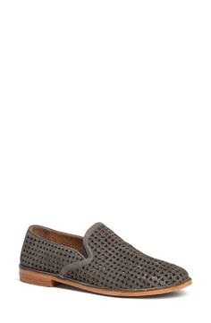 Trask 'Ali' The classic loafer is treated to stitch-out construction and metallic Italian suede on the perforated 'Ali' slip-on.
