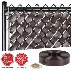 Amazon.com : Chain Link Fence Weave (Chocolate Brown) : Patio, Lawn & Garden