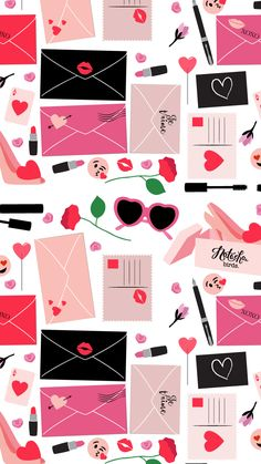 Girly pattern ★ Download more Fashionista iPhone Wallpapers at @prettywallpaper
