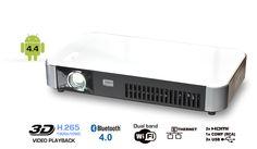 The new Dreamvision Dreamy #Geek II smart LED #projector. 3D, H.265/HEVC, AVI, MKV, wifi, bluetooth, HDMI, Airplay...  #HomeTheater #HomeCinema