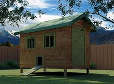 """""""Shiloh"""" Coop w/ Run Building Plans (22 chickens) from My Pet Chicken"""