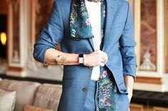 #menswear #fashion #floral #print #pattern #suit