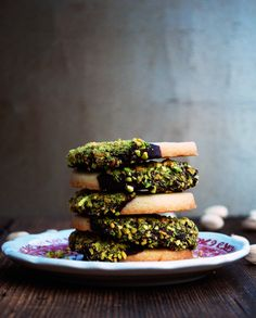 Secretly Spicy Pistachio and Chocolate Dipped Shortbread Cookies by The Live-In Kitchen