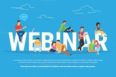 Webinar concept vector illustration by @Graphicsauthor