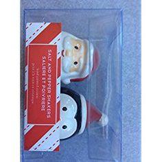 Santa and Penguin Salt and Pepper Shaker Set for Christmas