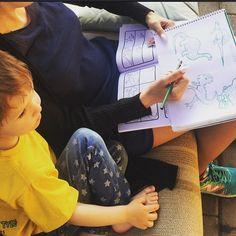 Рисуем динозавров с Мишутой