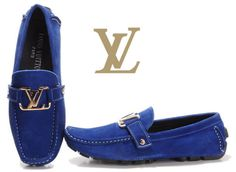 Louis Vuitton Suede Monte Carlo Loafer in Marine Delicate $690