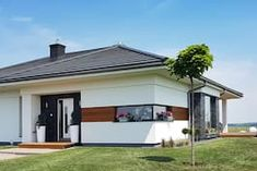 Dom w bodziszkach Bungalow House Design, Modern House Design, Design Case, Farmhouse, Outdoor Decor, Home Decor, Country Homes, Kitchen Modern, House